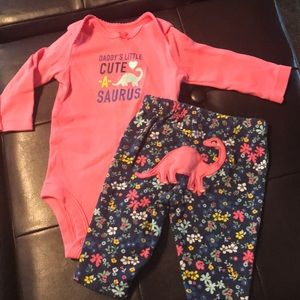 Other - Pick 3/$10!    Carters 3 month - cute a saurus